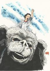 the neverending story Din A4 Copics y tinta 30€