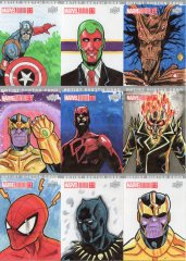 Marvel annual- artist sketch card 1-9 Yen San