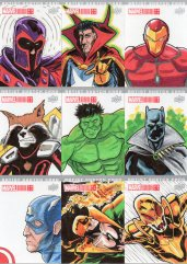 Marvel annual- artist sketch card 19-27 Yen San
