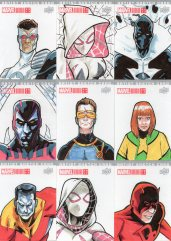 Marvel annual- artist sketch card 28-36 Yen San