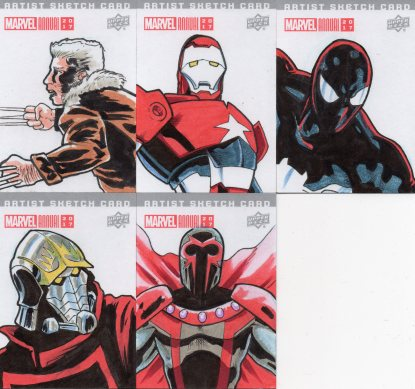 Marvel annual- artist sketch card 45-50 Yen San